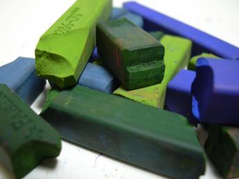 broken pastels